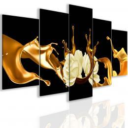 InSmile ® Zlatá abstrakce s rùží