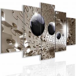 InSmile ® Obraz trojrozmìrné zlaté puzzle