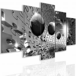 InSmile ® Obraz trojrozmìrné šedé puzzle