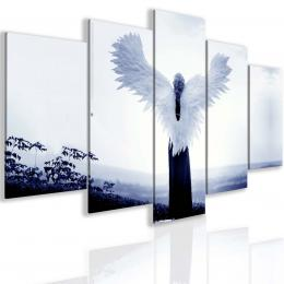 InSmile ® Pìtidílný tmavì modrý andìlský obraz