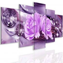 Malvis Obraz abstraktní rùže fialová