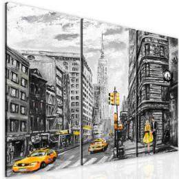 InSmile ® Malovaný obraz žlutý New York