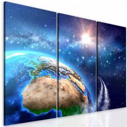 InSmile ® Tøídílný obraz vesmírná mise