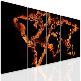 InSmile ® Obraz ohnivá mapa svìta