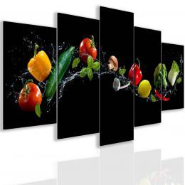 Malvis Pìtidílný obraz letní zelenina