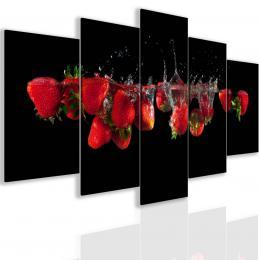 InSmile ® Pìtidílný obraz èervené jahody