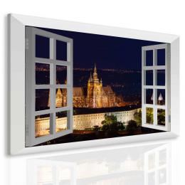 InSmile ® Obraz Praha za oknem