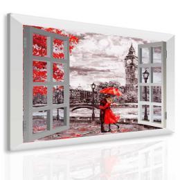 Malvis Obraz láska v Londýnì za oknem