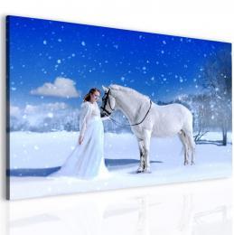 InSmile ® Obraz kùò a dívka  - zvìtšit obrázek