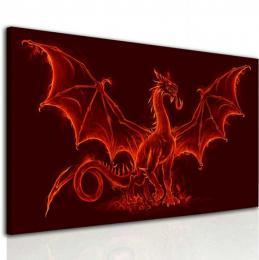 InSmile ® Obraz ohnivý drak