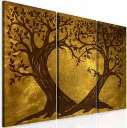 InSmile ® Obraz zlaté srdcové stromy