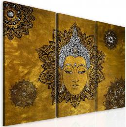 InSmile ® Obraz mandala žlutý Buddha