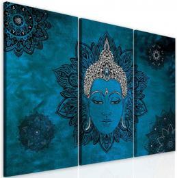 InSmile ® Obraz mandala modrý Buddha