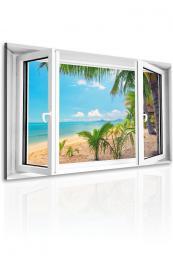 Malvis Obraz Okno do tropické pláže