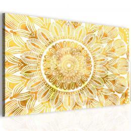 InSmile ® Obraz mandala zlaté slunce