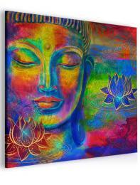 InSmile ® Abstraktní obraz barevný Buddha
