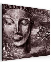 InSmile ® Abstraktní obraz fialovo hnìdý Buddha