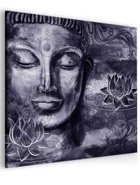InSmile ® Abstraktní obraz fialový Buddha
