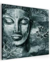 InSmile ® Abstraktní obraz šedý Buddha