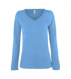 107 Trièko dámské Long Azure Blue|S