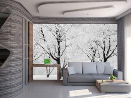 Murando DeLuxe Fototapeta - sníh na stromech