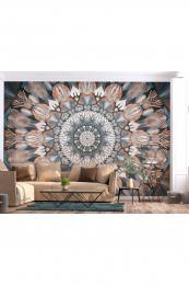 Murando DeLuxe Tapeta mandala v zemitých barvách