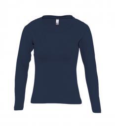 127 Trièko dámské Long classic Navy Blue|L