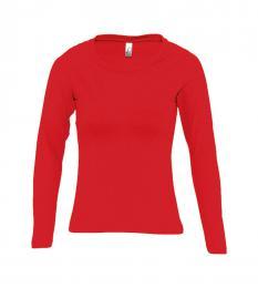 127 Trièko dámské Long classic Red|XL