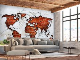 Murando DeLuxe Tapeta Cihlová mapa