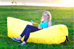 Samonafukovací LAZY-BAG žlutý