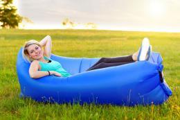 Samonafukovací LAZY-BAG modrý - zvìtšit obrázek