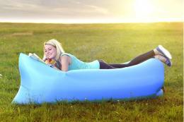 Samonafukovací LAZY-BAG svìtlemodrý - zvìtšit obrázek