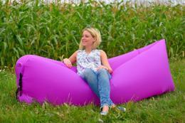 Samonafukovací LAZY-BAG fialový - zvìtšit obrázek