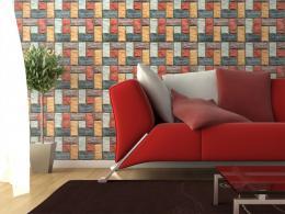 Murando DeLuxe Kamenný tetris Klasické tapety  49x1000 cm - samolepicí