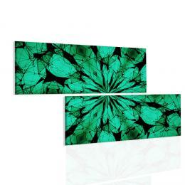 Malvis Obraz zelené paprsky mandaly