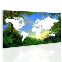 Malvis Obraz mapa svìta pro dìti