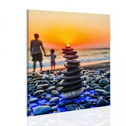 InSmile ® Obraz slunce na kamenech