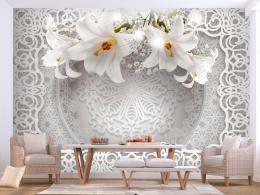 Samolepicí 3D tapeta Lilie na krajce - 294x210 cm - Murando DeLuxe