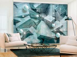 Samolepicí tapeta betonové šestihrany - zelená - 294x210 cm - Murando DeLuxe