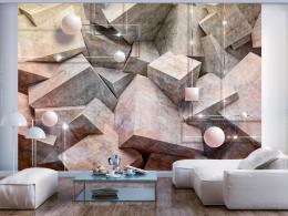 Samolepicí tapeta betonové šestihrany - rùžová - 343x245 cm - Murando DeLuxe
