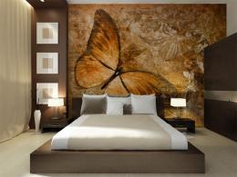 Murando DeLuxe Tapeta hnìdý motýl