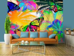 Murando DeLuxe Tapeta barevná - motýli