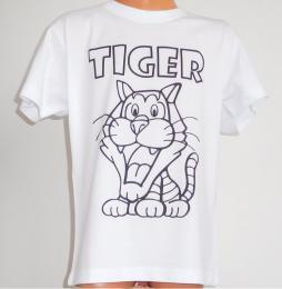 Dìtské trièko k vybarvení TYGR