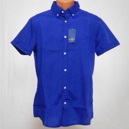Modrá pánská košile s krátkým rukávem - XL