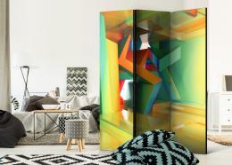 Paraván barevný prostor II - 135x172 cm - Murando DeLuxe