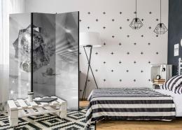 Paraván abstraktní šedá - 135x172 cm - Murando DeLuxe