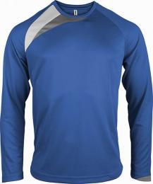 Pánský fotbalový dres - trièko dl. rukáv - royal blue/white/storm grey - (L)