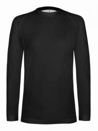 Sportovní rychleschnoucí elastické triko, dl. rukáv - black (L)