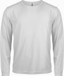 Pánské sportovní trièko dl. rukáv - white - L