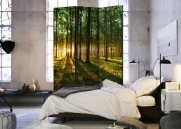 Paraván západ slunce v lese - 135x172 cm - Murando DeLuxe